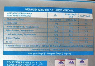 Salmón Noruego Ahumado - Valori nutrizionali - es