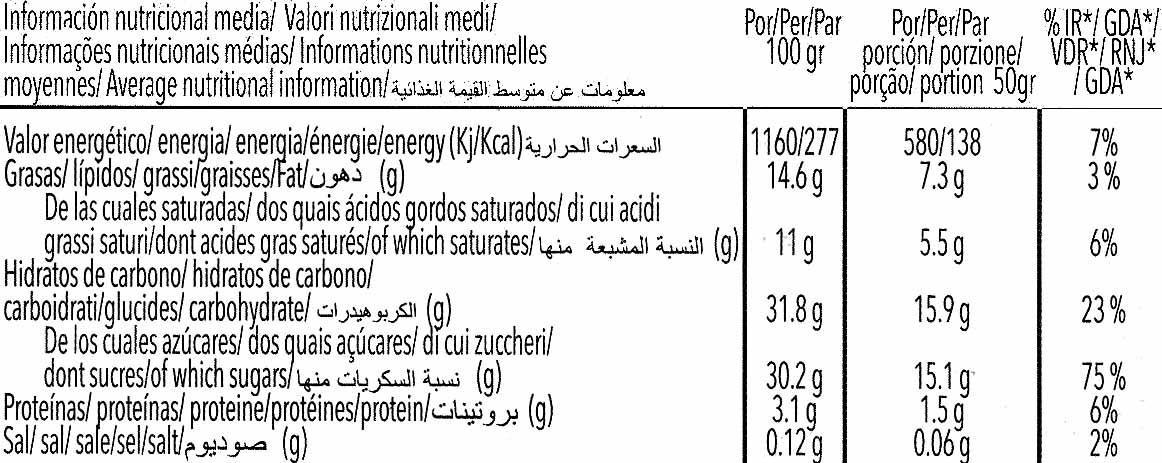 Special soja vainilla - Información nutricional - es
