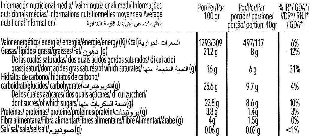 Special Soja bombón crocanti - Información nutricional - es