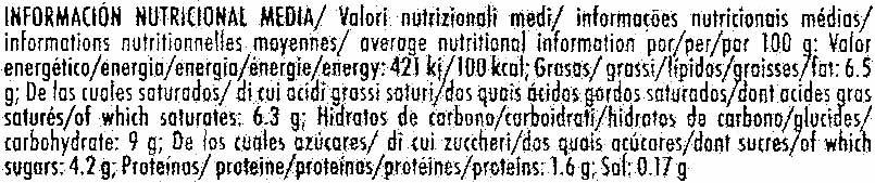 Polo de horchata - Informations nutritionnelles - es