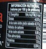 Pimientos del piquillo de lodosa - Información nutricional - es