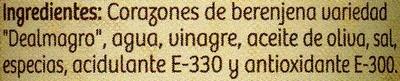 Corazones de berenjenas de Almagro - Ingredientes