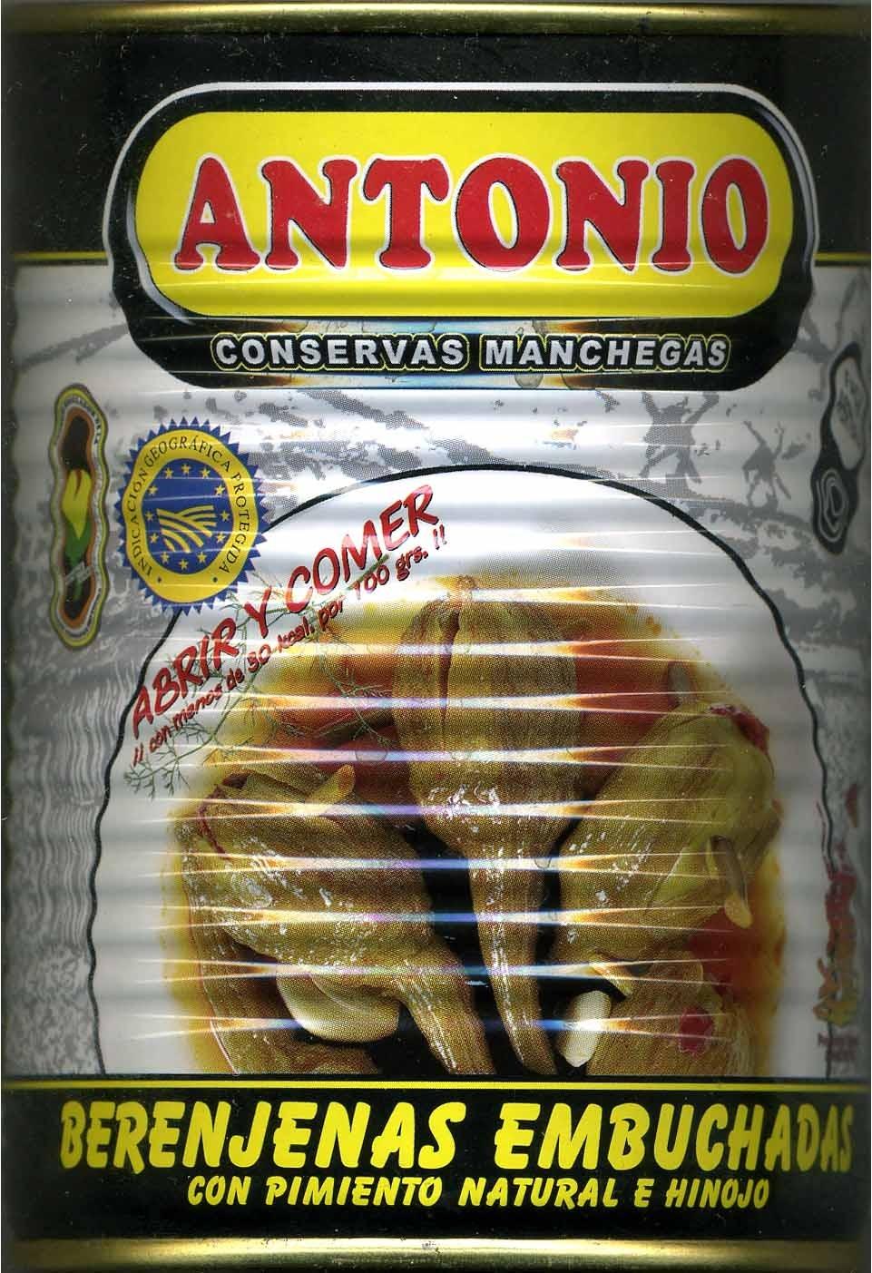 """Berenjenas encurtidas embuchadas """"Antonio"""" Origen Almagro - Producto"""