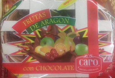 Frutas de Aragón con chocolate - Producte