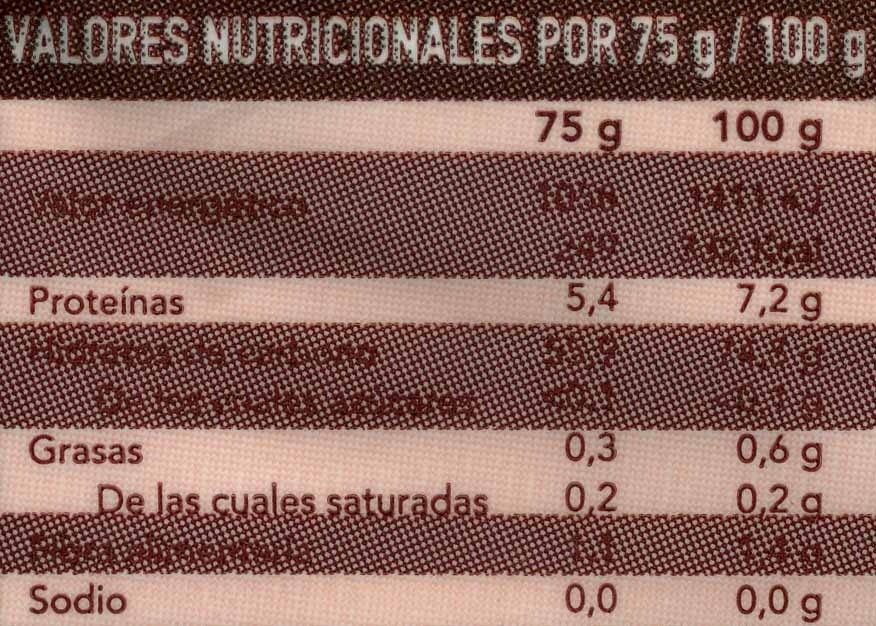 Arroz Bomba - Nutrition facts