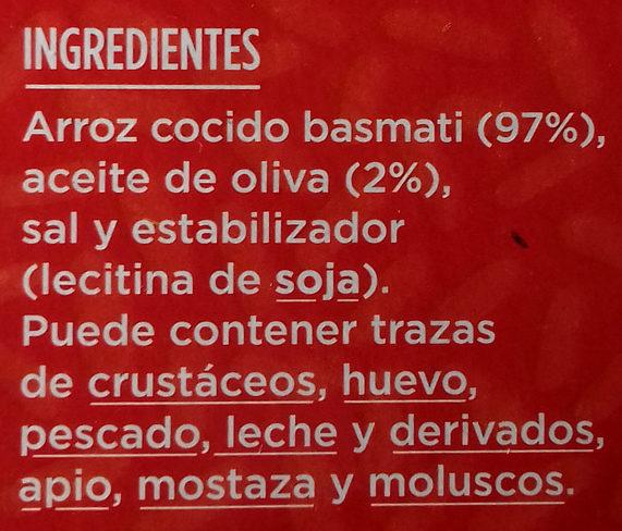 Arroz basmati - Ingredientes - es