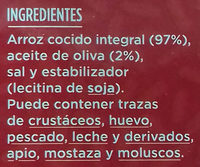 Arroz integral - Ingredients
