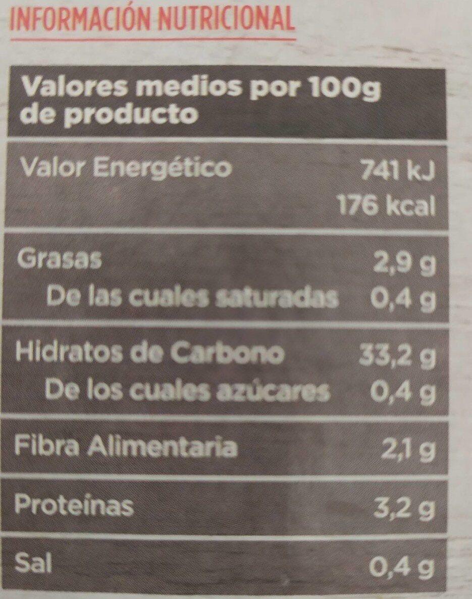 Arroz integral - Información nutricional - es