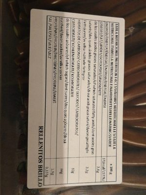 Damel Rellenito Cola 210 Und - Informations nutritionnelles
