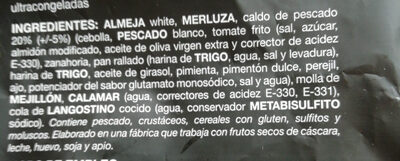 SOPA DE MARISCO - Ingredients