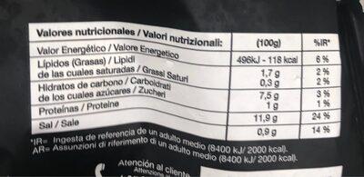 SOPA DE MARISCO - Información nutricional
