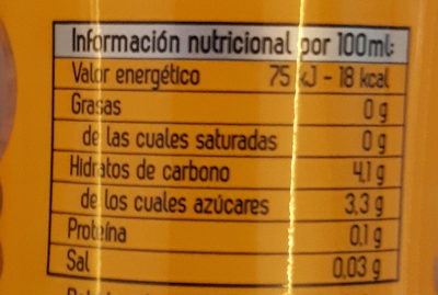 Solan De Cabras Naranja - Informations nutritionnelles