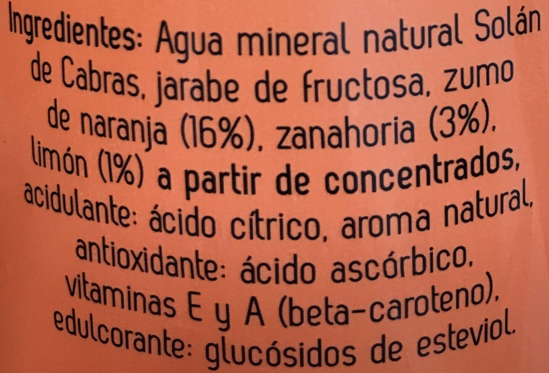 Agua mineral natural con zumo de multifrutas - Ingredientes - es