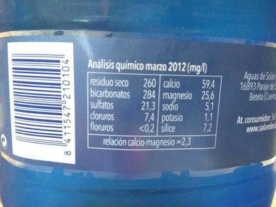 Solán De Cabras Agua Mineral - Producte