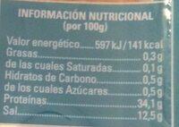 Capellanes (Lirios Seco-Salados - Nutrition facts - es
