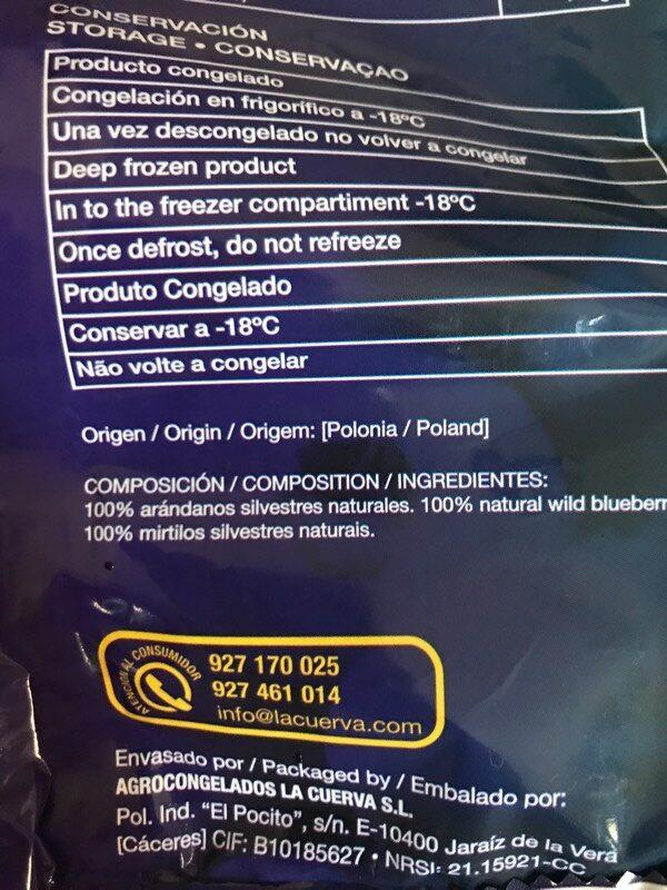 Arándanos ideales para smoothies naturales - Ingredients