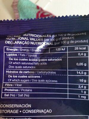 Arándanos ideales para smoothies naturales - Informació nutricional
