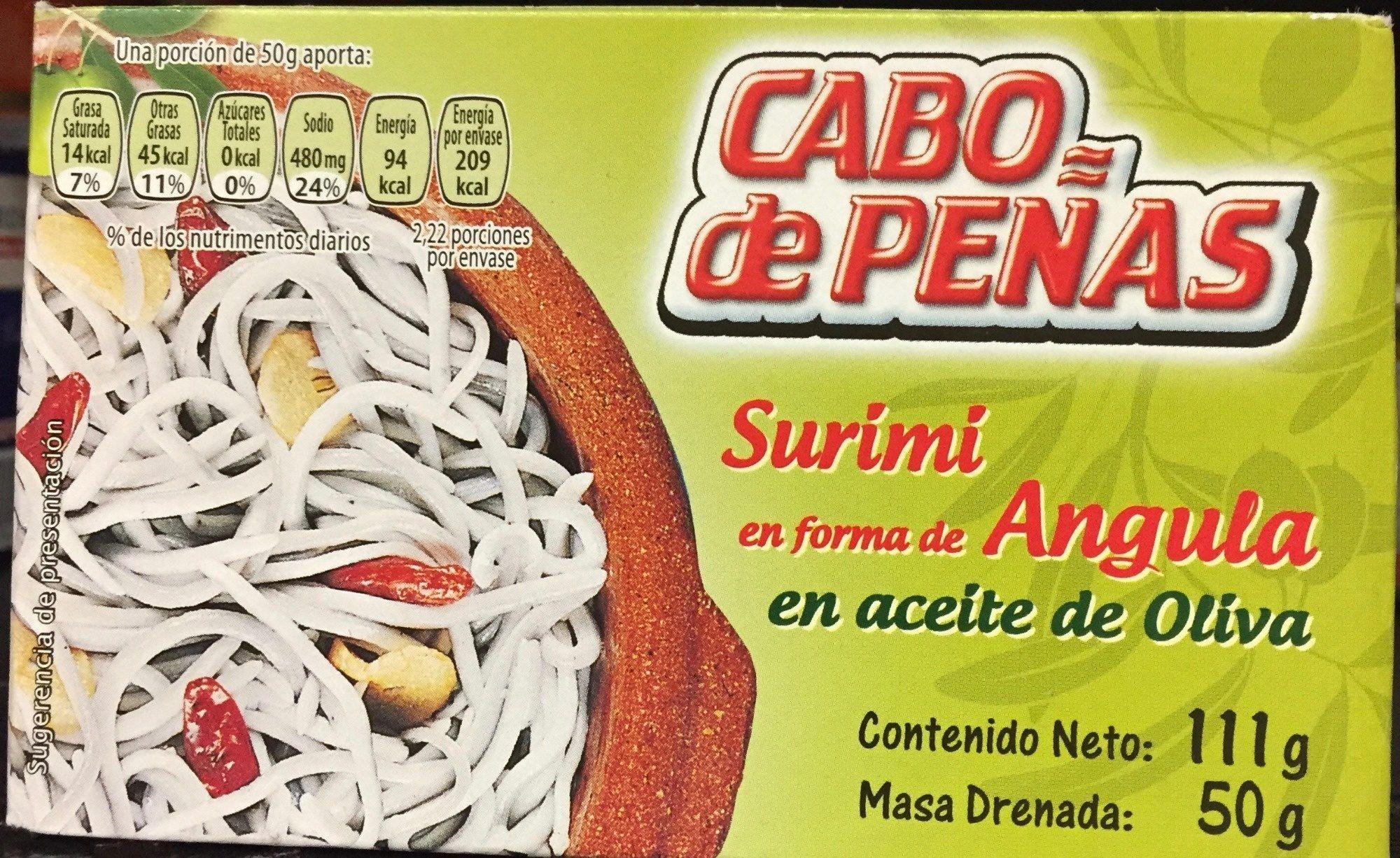 Angulas de surimi al ajillo aceite de oliva - Producto - es