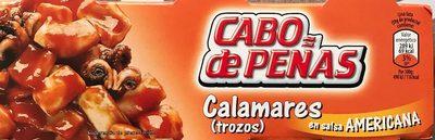 Calamares (trozos) en salsa Americana - Producto