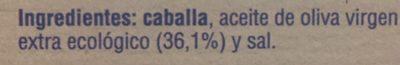Filetes de caballa del sur - Ingrédients - fr
