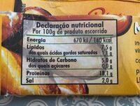 Mejillones escabeche de la rías gallegas - Informació nutricional