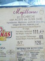Mejillones en escabeche - Ingredients