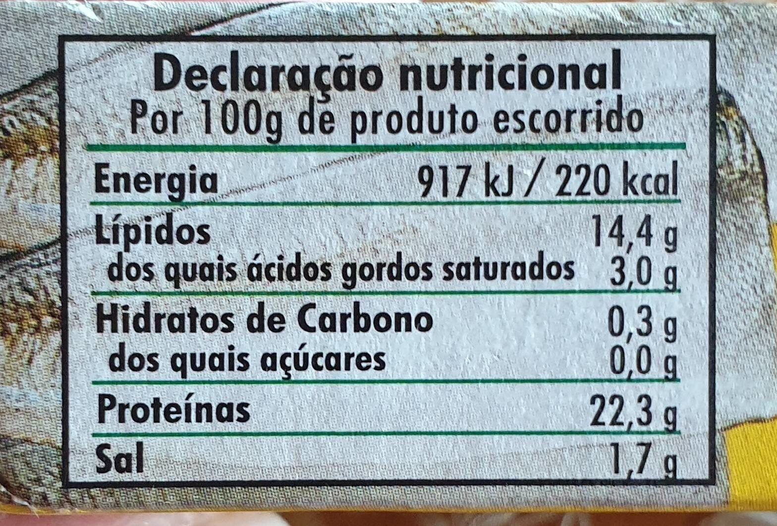 Chicharrillos - Voedingswaarden - es