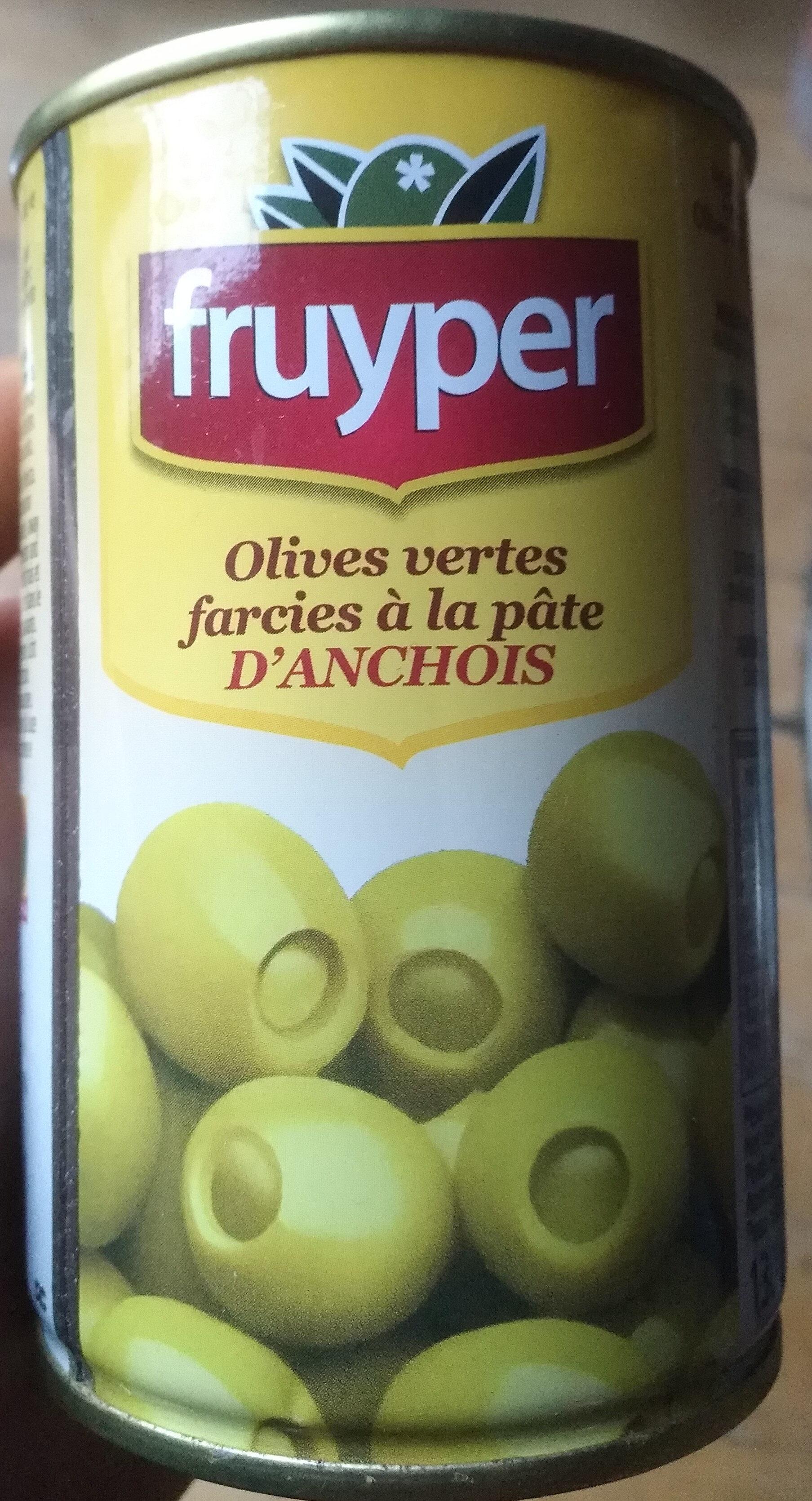 Olives vertes farcies à la pâte d'anchois - Product - fr
