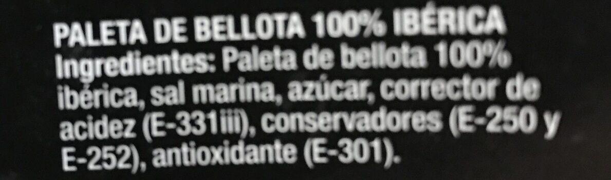 Paleta de bellota Alta expression de los pedroches - Ingredients