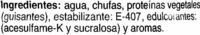 Horchata de chufa ligera - Ingredients