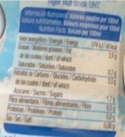 Horchata Chufi 0% Azúcar Añadido - Informations nutritionnelles - es