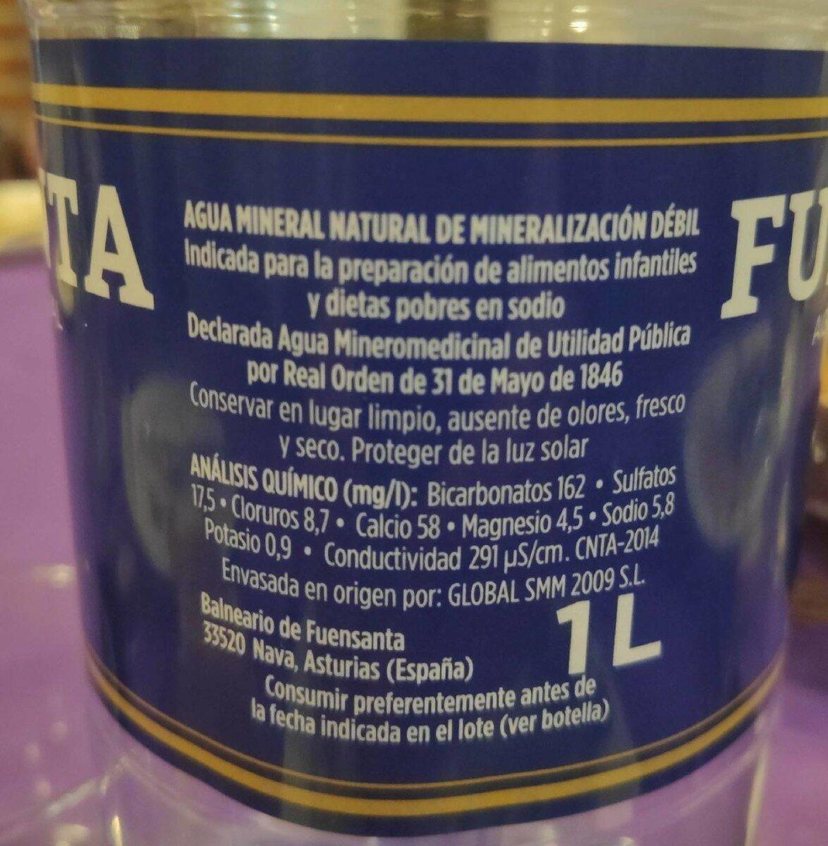 Agua minero-medicinal - Informació nutricional