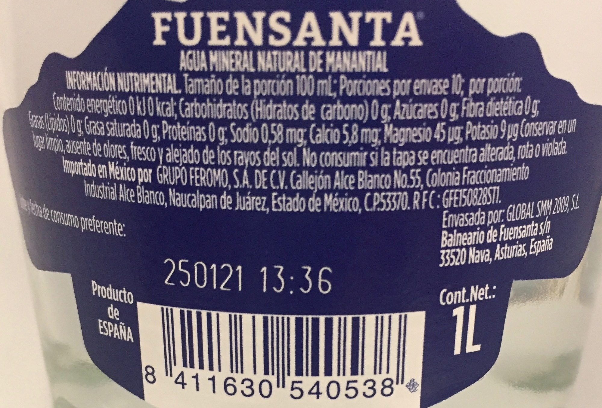 Funsanta - Ingredientes - es