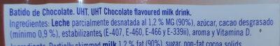 Batido de cacao de leche - Ingredientes - es