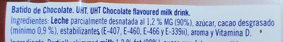 Batido De Cacao - Ingredients
