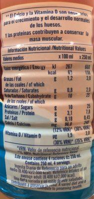 Batido De Cacao - Nutrition facts