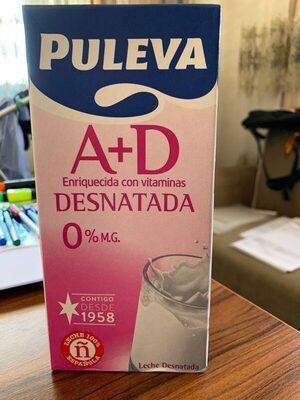 Leche desnatada A + D - Produto - es