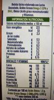 Leche desnatada con Omega 3 - Voedingswaarden - es