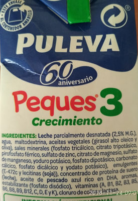 Leche Peques 3 - Ingredients