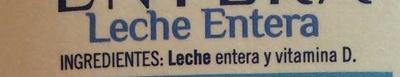 Leche entera - Ingredients