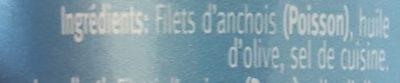 Anchois de la mer - Ingrediënten - fr