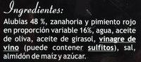 Ensalada de alubias - Ingredientes