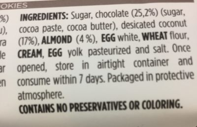 Coco Choc - Ingredients