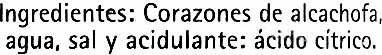 Corazones de alcachofa - Ingrediënten