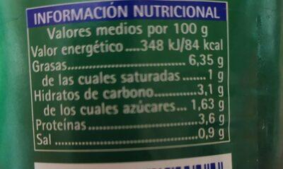 Ensalada de atún - Nutrition facts - es