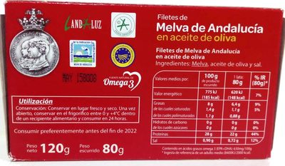 Filetes de melva - Ingrediënten - es