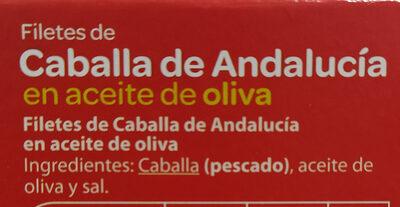 Filetes de caballa de Andalucía en aceite de oliva - Ingrédients - es