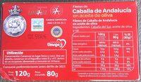 Filetes de Caballa de Andalucia en aceite de oliva - Ingrédients