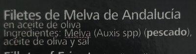 Filetes de Melva de Andalucía - Ingrediënten
