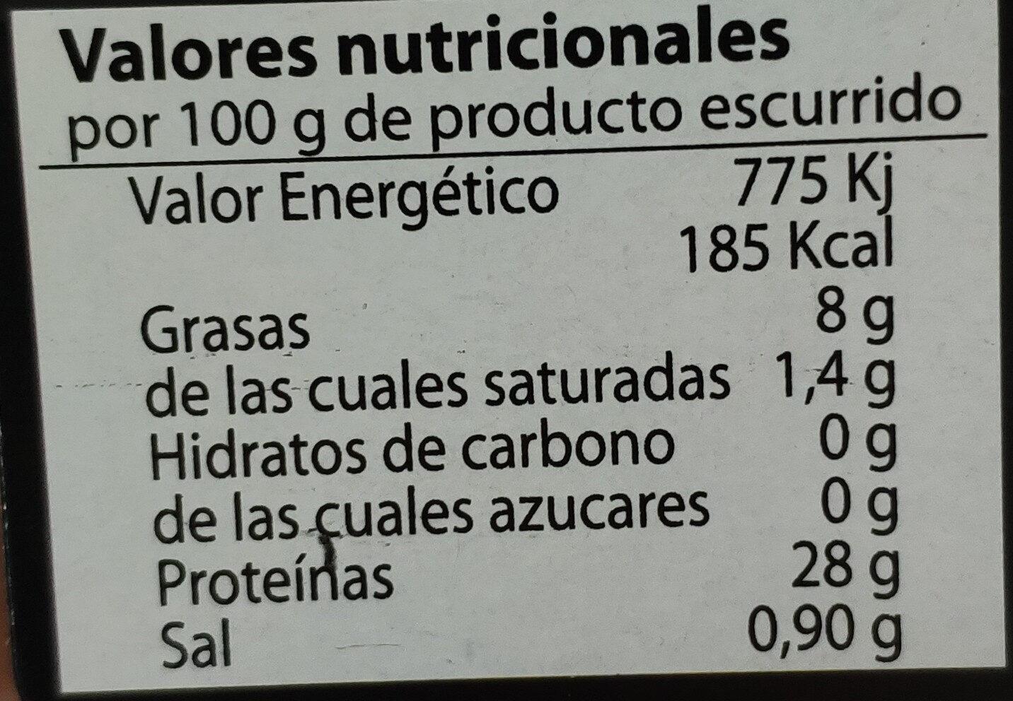 Filetes de Melva de Andalucía - Voedigswaarden